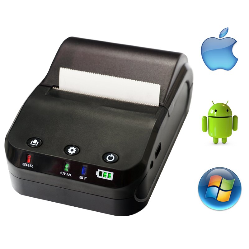Mini mobile bluetooth airprint receipt barcode printer