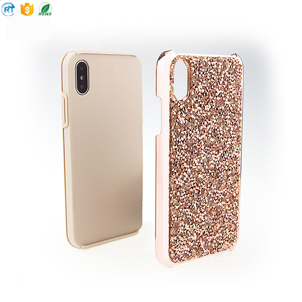 New Glitter Bling Hard Cover with Dual Layer phone case for iphone X