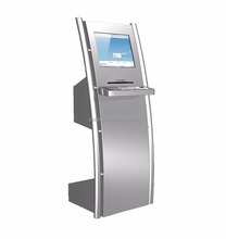 Parking bill payment touch screen kiosk with A4 laser printer