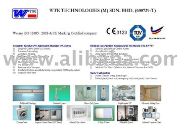 Medical Gas Pipeline Equipment, Operation Theatre and Nurse Call System