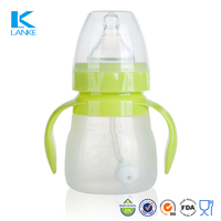 FDA Standard Natural Breastfeeding Silicone Baby Feeding Bottle, 5oz/140ml