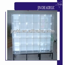 free standing acrylic cosmetic display shelf