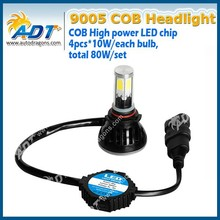2015 hot selling 9006 40w 4000lm single beam g5 led headlight with led cob chip