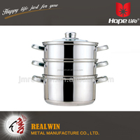 Different sizes food steamer 4pcs stainless steel large stainless steel bread steamer pot
