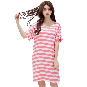 Cotton girl casual breathable nightdress