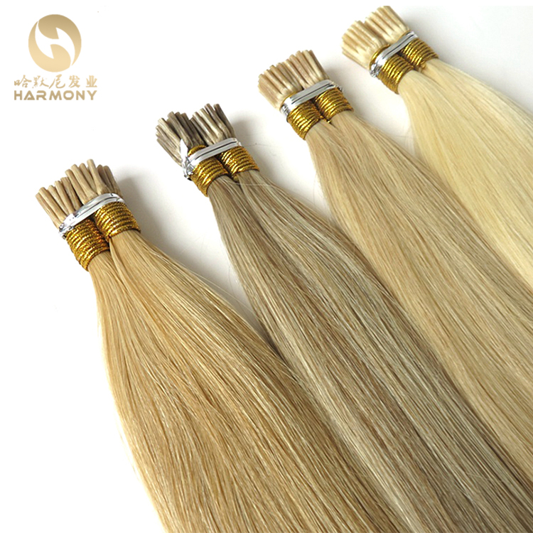 100% Virgin Russian Remy Double Drawn Human Hair 0.5g 0.8g 0.9g Itailan Keratin Pre bond I Tip Remy 1g Stick Tip Hair extensions