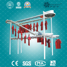 laundry clothes conveyor line