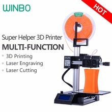 3D Printer kit for Sale Winbo High-accuracy Multi-functional 3D Printing 15*15*20cm+Laser Engraving+Cutting:Super Helper 155L