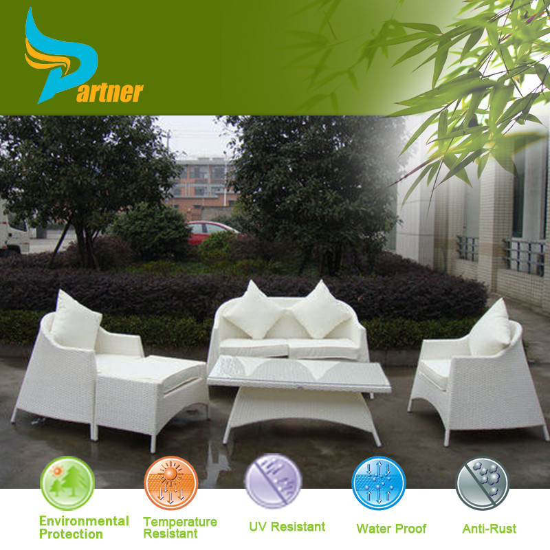 PNT-E-721 Anhui Partner New Design Fashionable Modern Bali White Rattan Outdoor Furniture
