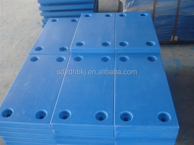 wear resistant yellow uhmwpe fender cap