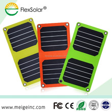 Flexsolar 5W foladable Promotional Gifts Power Bank Solar Charger for Mobile, MP3/4
