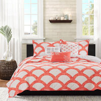 Coral Quilted Coverlet Set Comforter Set