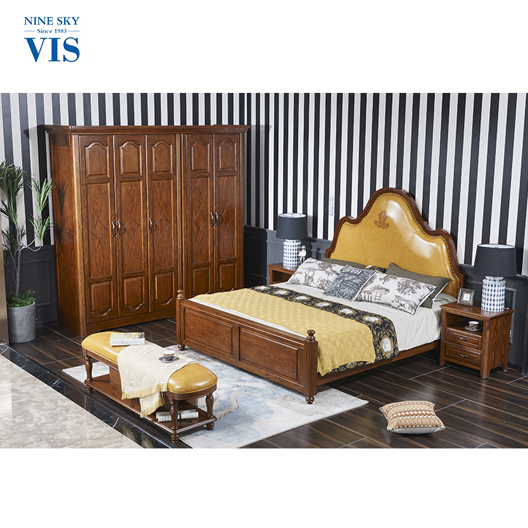 American Village Style Custom Wooden Bedroom Furniture,Bedroom Furniture Set