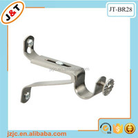 metal wall brackets for curtain rods, decorative triple curtain rod brackets