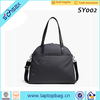 trim leather overnight travel laptop tote bag with shoes compartment