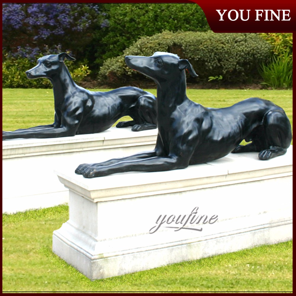Garden Statue Life Size Bronze Greyhound Dogs For Sale ...