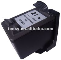 Refilled ink cartridge for HP21 BK