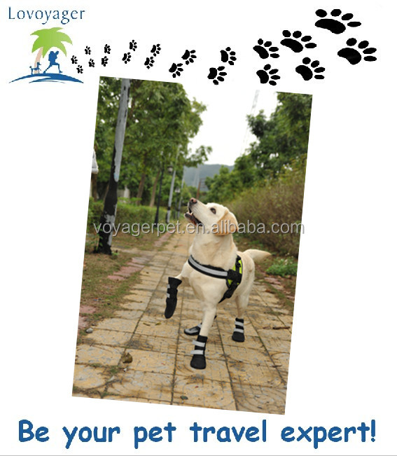 PU Comfortable waterproof dog boots for winter