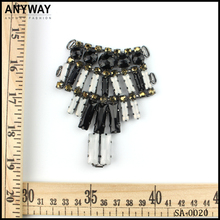 wholesale white and black rhinstone crystal connector for bikini for women shoes in bulk