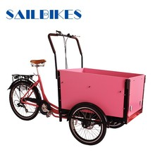 2015 3 wheeler steel frame family cargo trike in bicycle for delivering children