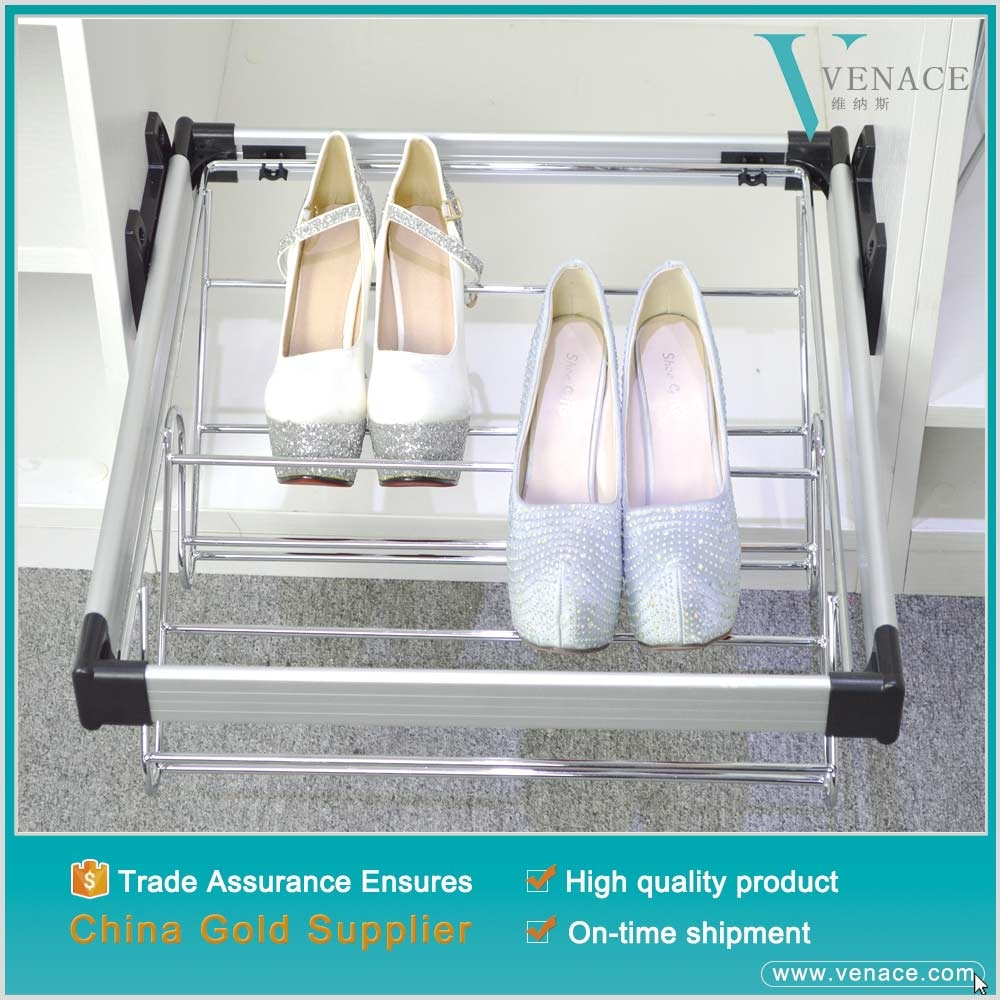 New design wardrobe portable iron shoe storage metal shoe rack