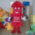Hola red pencil mascot costume/carnival costume man