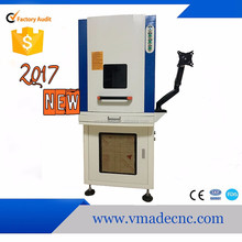 2017 February Sealed cabinet 20w fiber laser marking machine for scissors Mark
