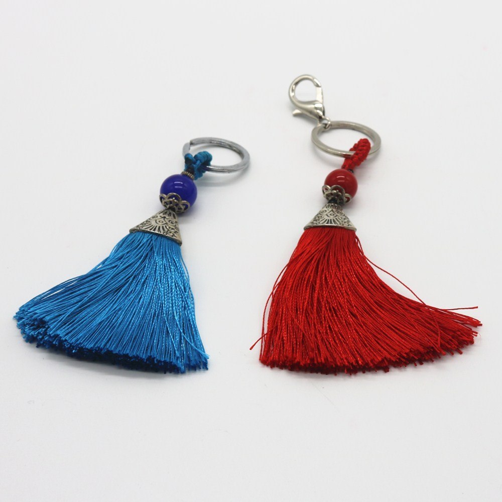 Wholesale High Quality Decoration Accessory Keychain Tassel Fringe