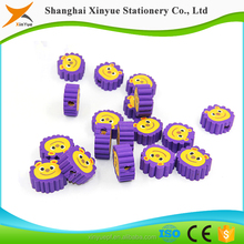 3d target manufacturer lions shaped animal pencil toppers eraser