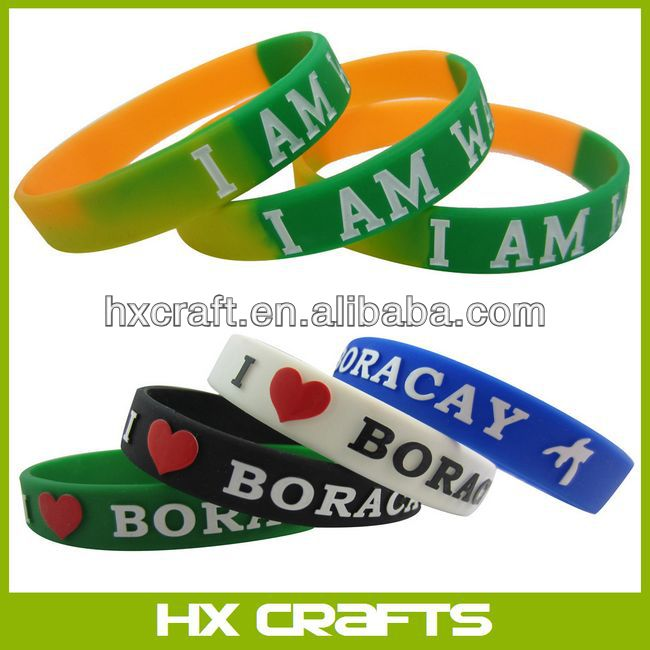 Rubber Bracelet Band With Text Saying On Wristband...Choose Your Sayings!!!