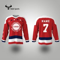 Stars Red Color Hockey Tops Jersey Customize All Sizes