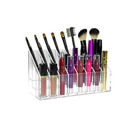 Transparent acrylic / lucite / plexiglass makeup organizer holder for lipstick, makeup brushes