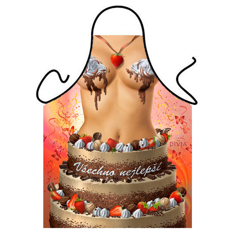 Buy New women beauty Birthday cake bikini women Apron good christmas ...