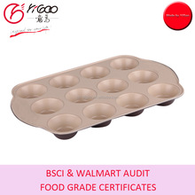 WITH FOOD GRADE & PFOA FREE CERAMIC COATING MUFFIN PAN(6CUP/12CUP/24CUP)