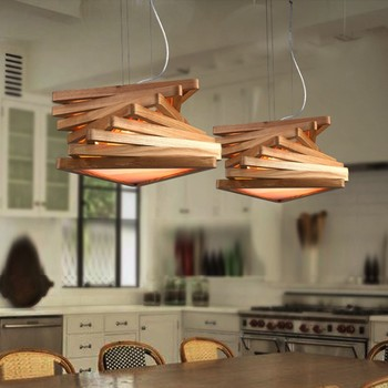 Bent Wood Contemporary Pendants Lighting Modern Ceiling Lights Dinning Room Light