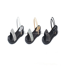 CFP S00017 New Style Sandles And High Quality PU Sandals Diamante Slider Sandals For Women