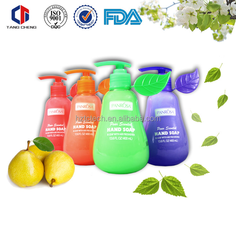 Hot selling perfumed 400ml pears liquid hand soap/ hand wash