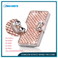 Luxury Bling Crystal & Diamond Leather Flip Lady Bag Cover For Samsung Galaxy S6 S5 S4 S3 Note 4/3/2 ,Phone Case Cover Housing