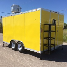 16' X 8.5' NEW FOOD VENDING TRAILER CATERING CONCESSION BBQ FULLY EQUIPPED FOR SALE