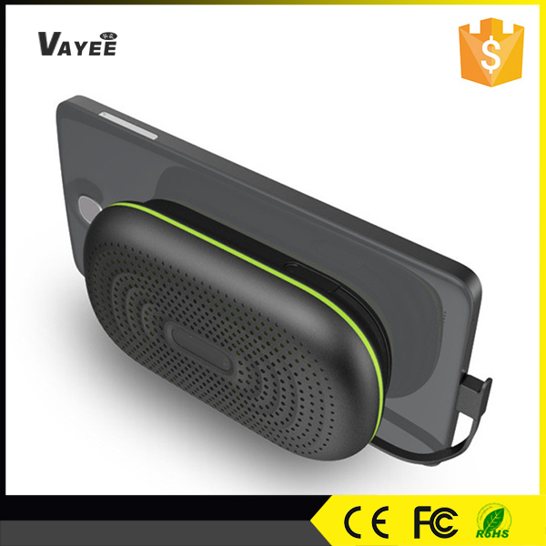 2016 new design product, bluetooth speaker phone charger with mobile holder for cellphone