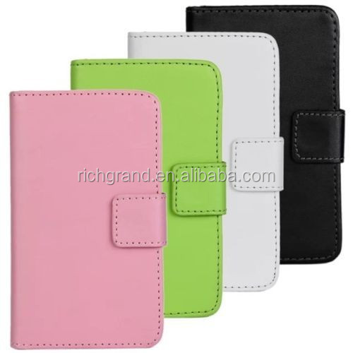 For Samsung galaxy mini 2 S6500 magnetic leather slot wallet cover stand case