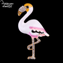 Dvacaman Brand 2017 Crane Brooch Cute Crystal Rhinetone Charm Brooches Pins Women Wedding Party Clothing Jewelry Accessories FF2