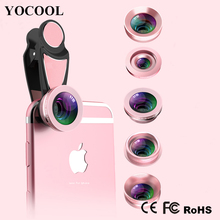 For Iphone Christmas Gifts Mobile Phone Accessories 5 In 1 0.36 Wide Angle Zoom Telephoto Camera Lens