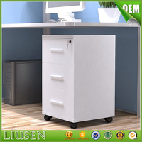 High quality cheap office furniture office 3 drawers cabinet modern wood cabinet small drawer