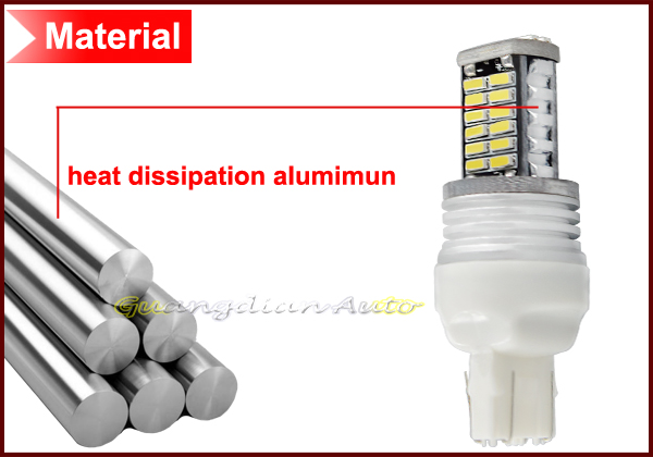 NEW high power bright 7443 stop light market light brake tail lamp led bulb canbus 4014chip 10w 30smd