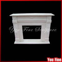 Natrual White Marble Fireplace For Home