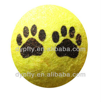 Paw print Dog Tennis Balls