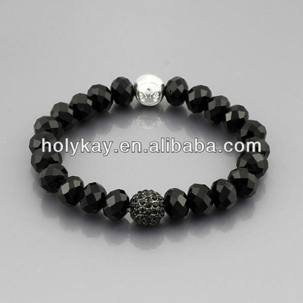 wholesale 2014 fashion faceted black stone beads elastic thread bracelets in china alibaba