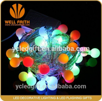 Battery Christmas Plastic String Light 2m 20 LED Ball Wedding Holiday Indoor Outdoor Decoration String Lighting White