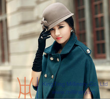 Wholesale New style Womens Wool Felt Hand Made Winter hats